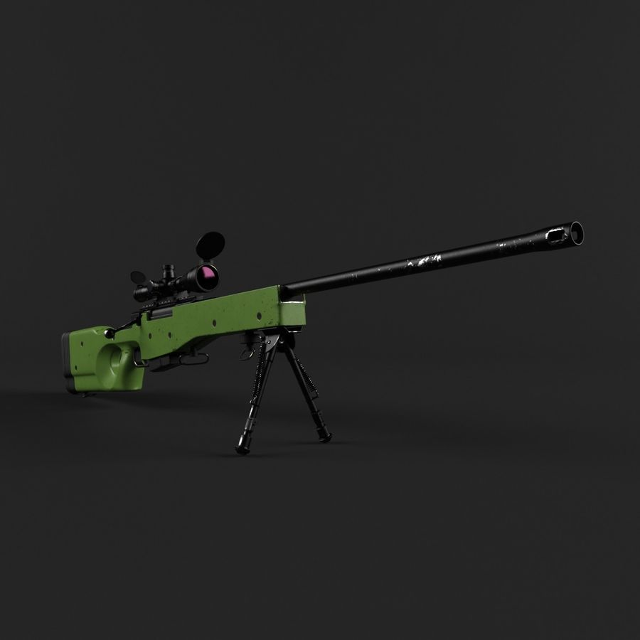 Sniper Rifle L96 British royalty-free 3d model - Preview no. 4
