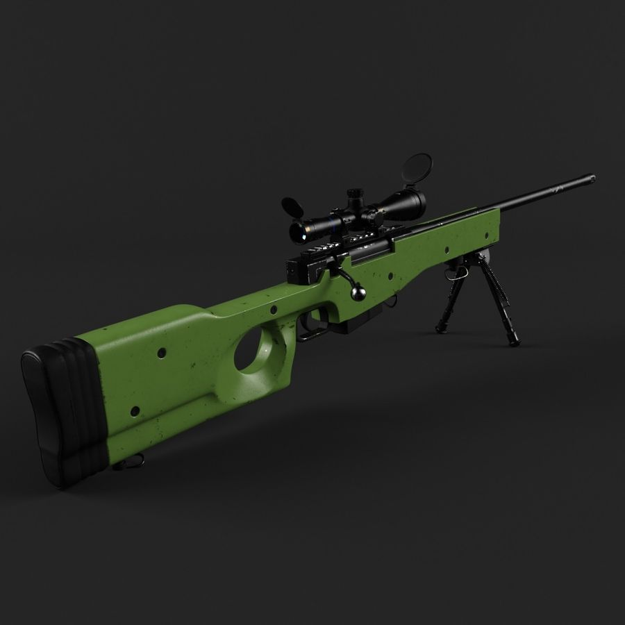 Sniper Rifle L96 British royalty-free 3d model - Preview no. 2