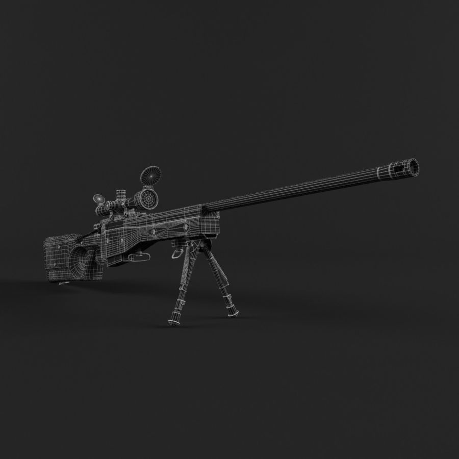 Sniper Rifle L96 British royalty-free 3d model - Preview no. 13