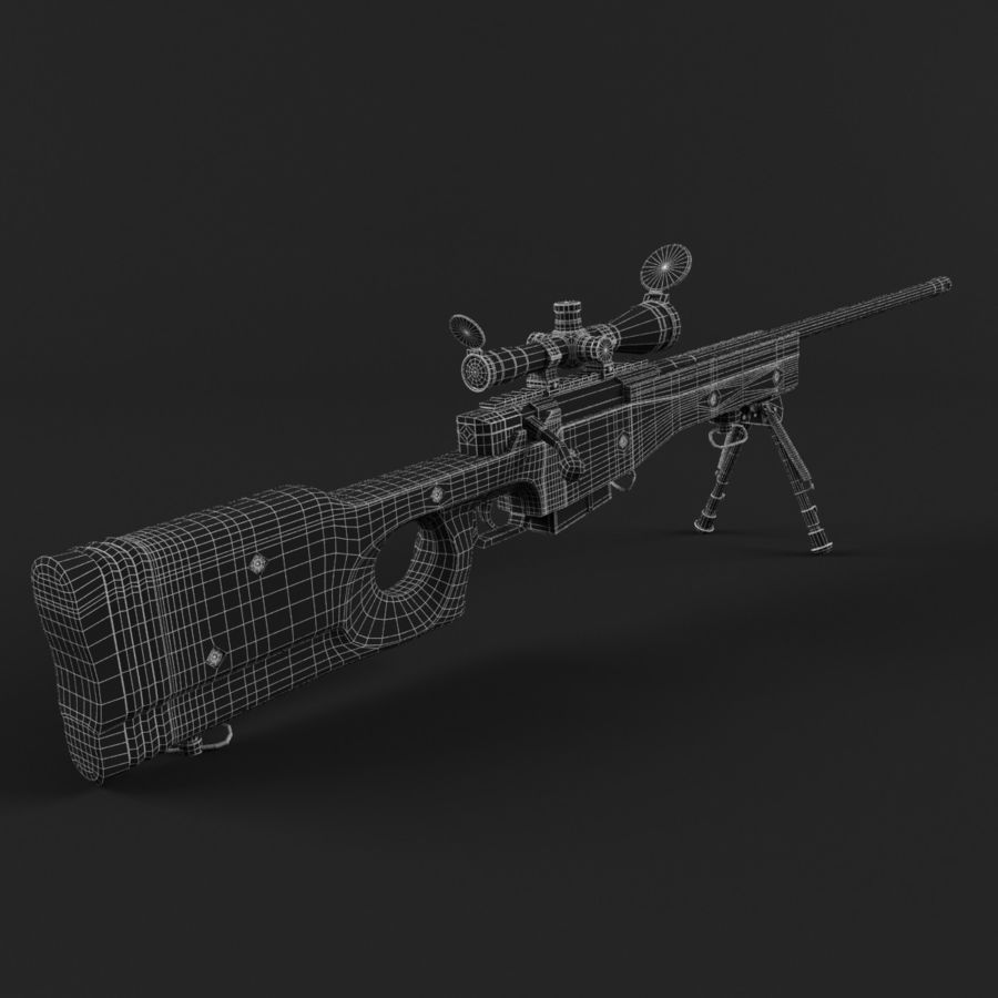 Sniper Rifle L96 British royalty-free 3d model - Preview no. 12