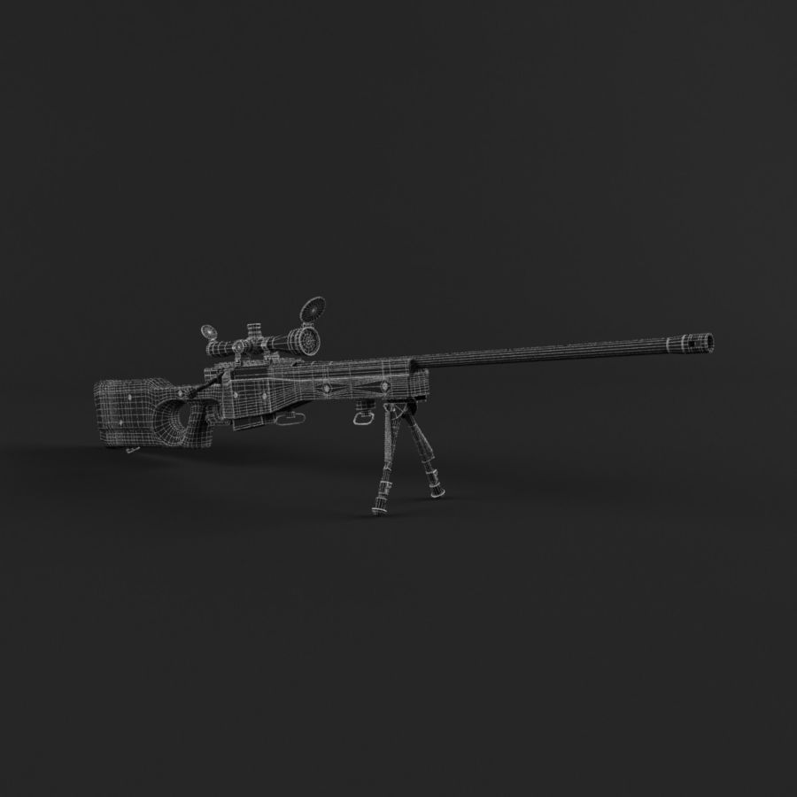 Sniper Rifle L96 British royalty-free 3d model - Preview no. 16