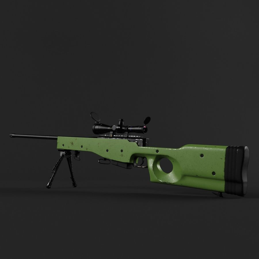 Sniper Rifle L96 British royalty-free 3d model - Preview no. 8