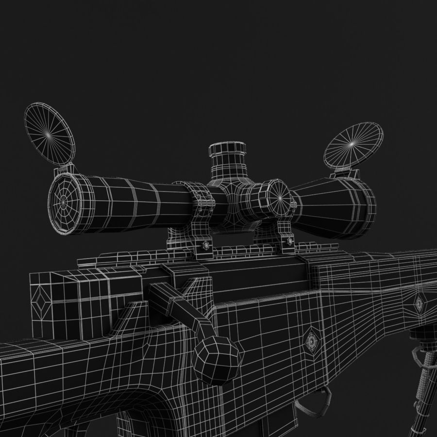 Sniper Rifle L96 British royalty-free 3d model - Preview no. 14