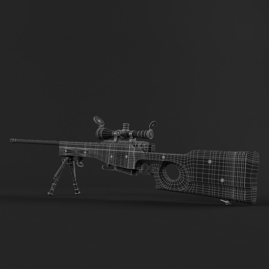 Sniper Rifle L96 British royalty-free 3d model - Preview no. 15
