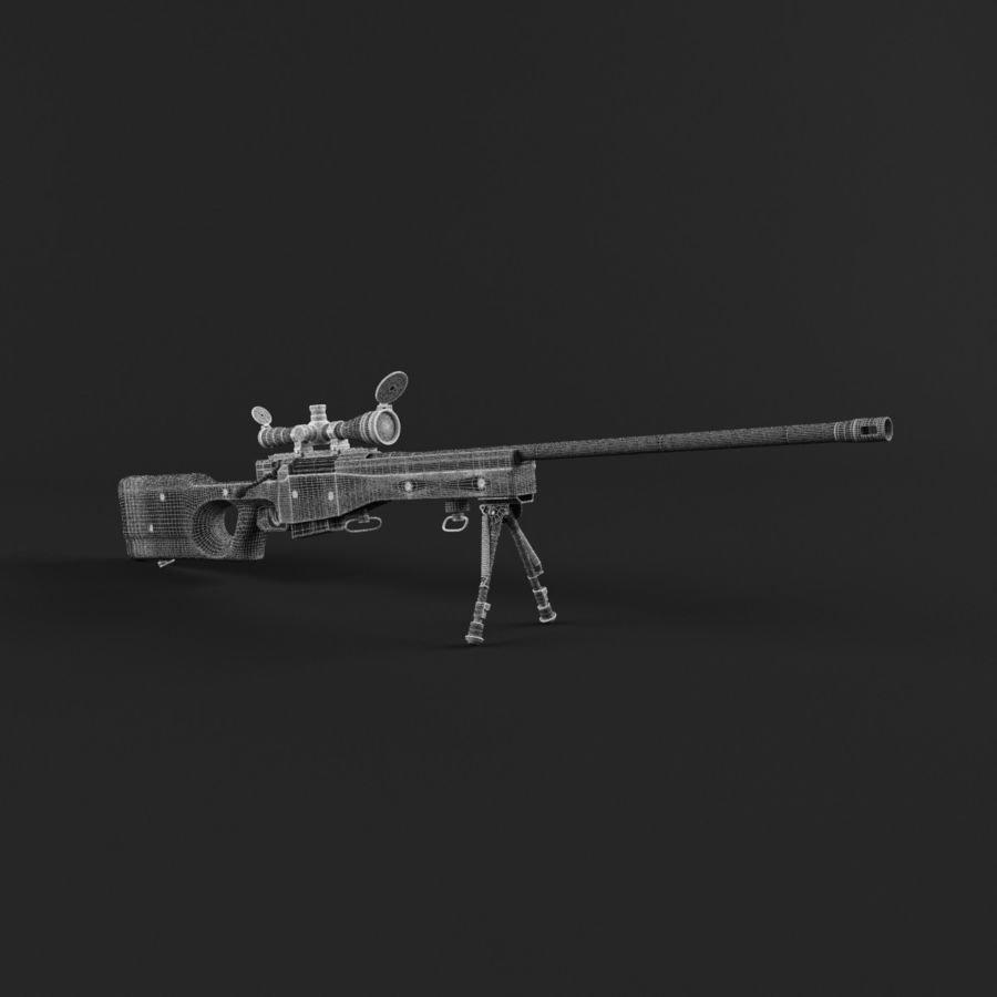 Sniper Rifle L96 British royalty-free 3d model - Preview no. 21