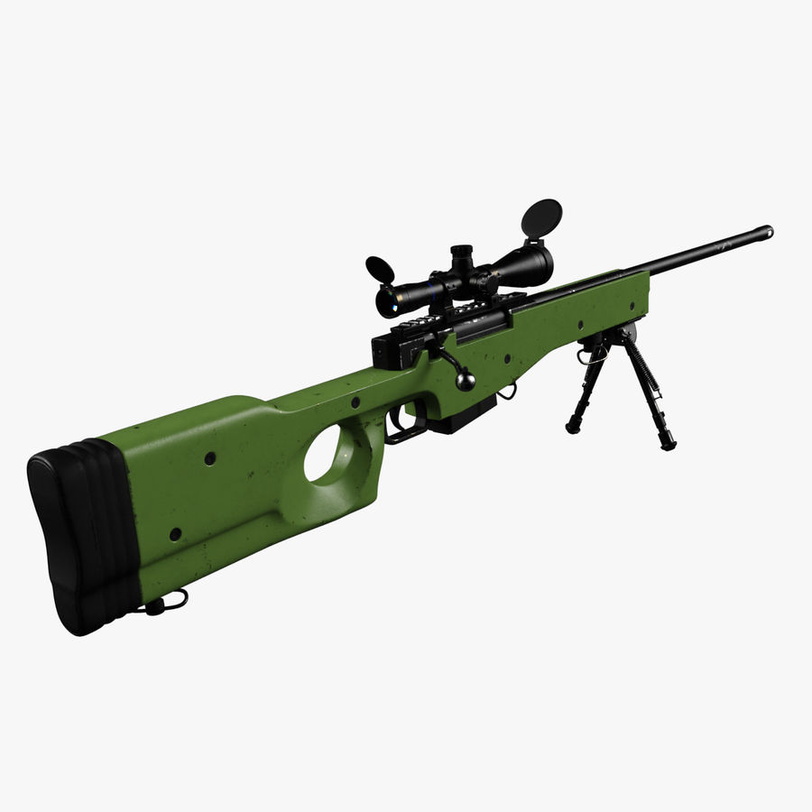 Sniper Rifle L96 British royalty-free 3d model - Preview no. 1
