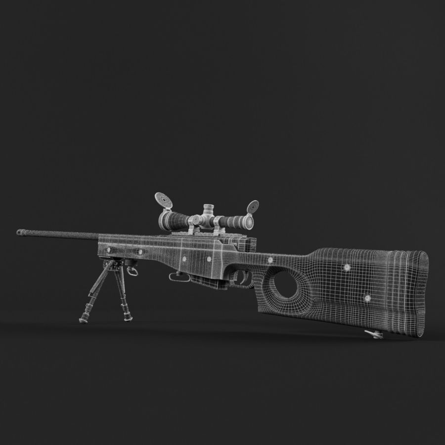 Sniper Rifle L96 British royalty-free 3d model - Preview no. 20