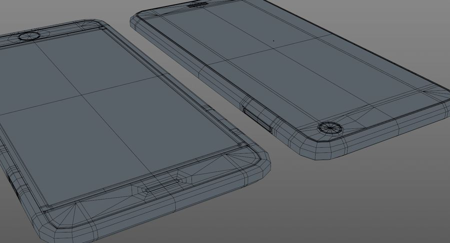 Telefono cellulare generico royalty-free 3d model - Preview no. 14