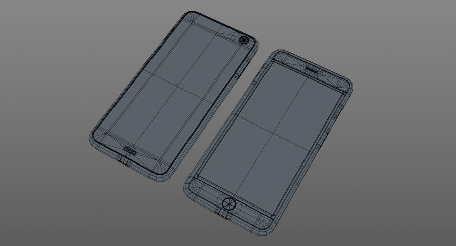 Telefono cellulare generico royalty-free 3d model - Preview no. 9