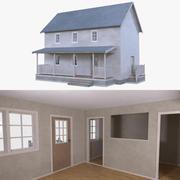 房子四,内部装满 3d model