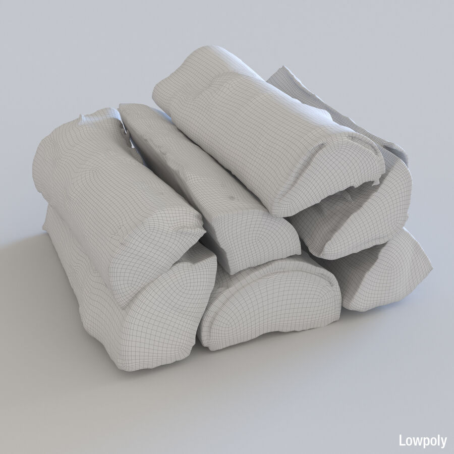 Wood Logs royalty-free 3d model - Preview no. 19