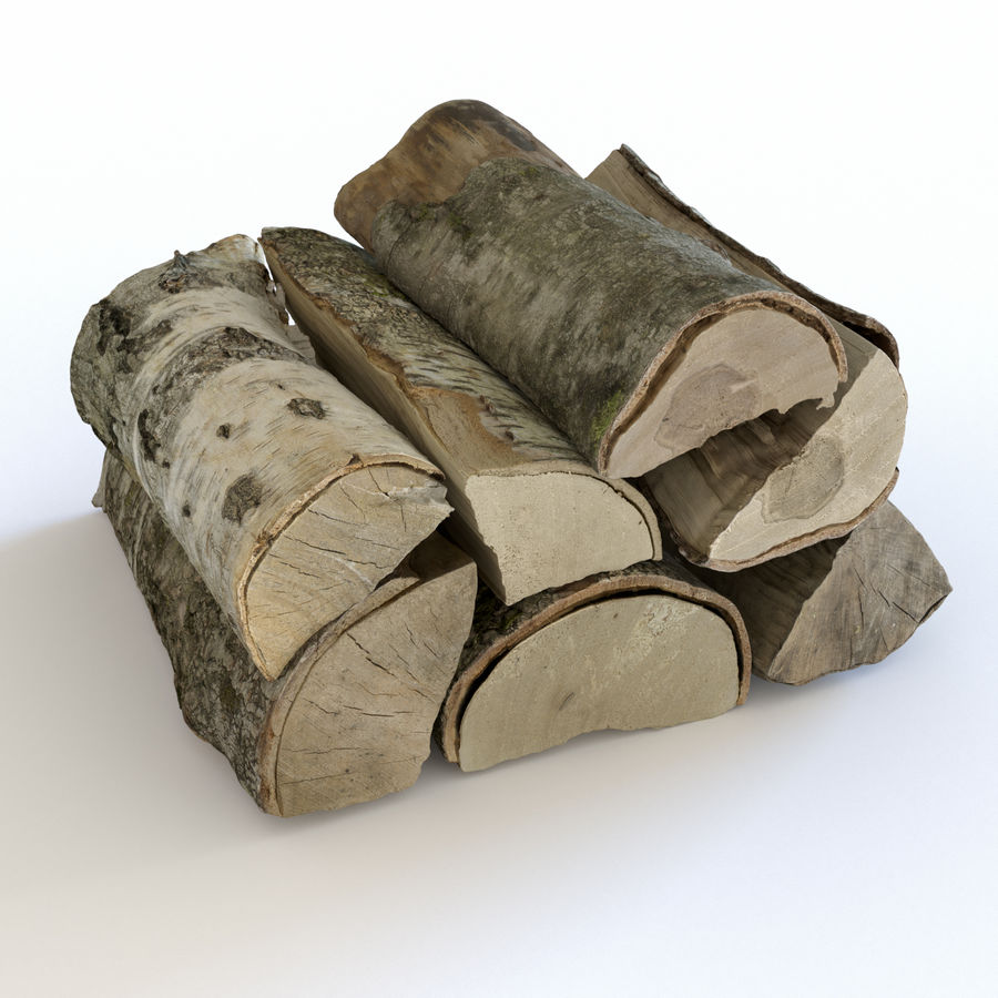 Wood Logs royalty-free 3d model - Preview no. 1