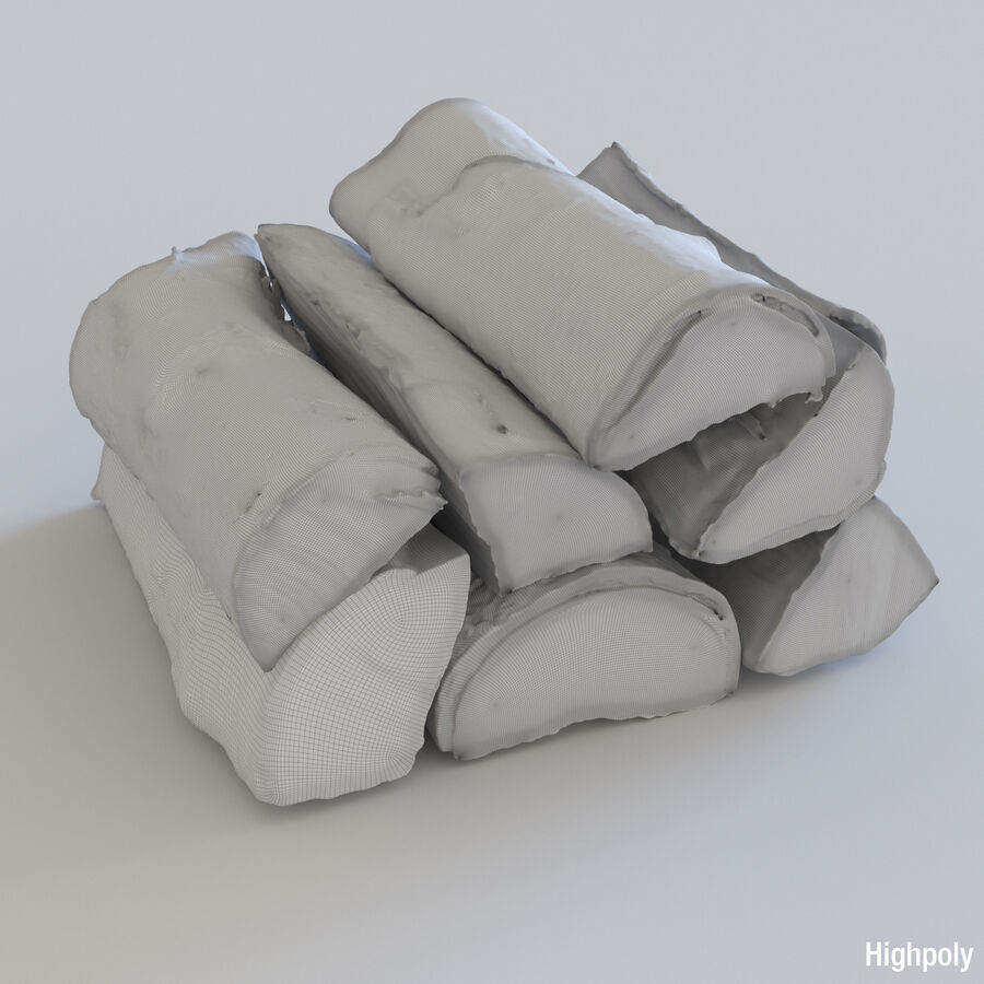 Wood Logs royalty-free 3d model - Preview no. 18