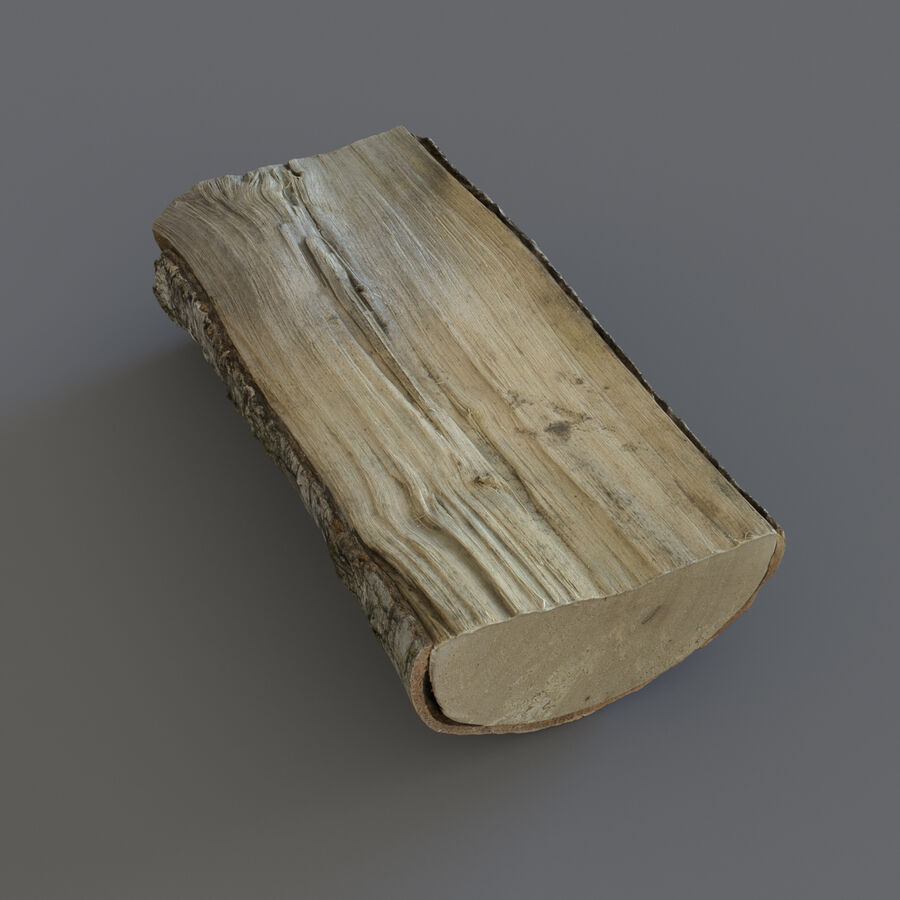 Wood Logs royalty-free 3d model - Preview no. 14