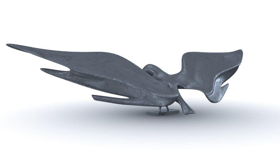 Estatua del águila dorada americana royalty-free modelo 3d - Preview no. 5