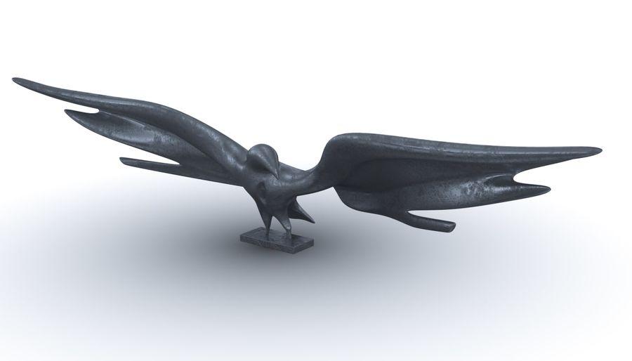 Estatua del águila dorada americana royalty-free modelo 3d - Preview no. 4