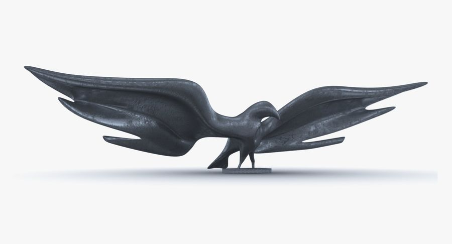 Estatua del águila dorada americana royalty-free modelo 3d - Preview no. 1