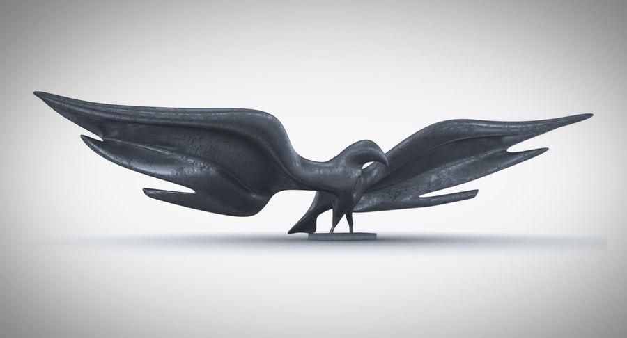 Estatua del águila dorada americana royalty-free modelo 3d - Preview no. 2