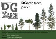 DGarch_trees_pack_1 3d model