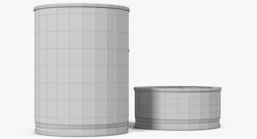 Tin Cans royalty-free 3d model - Preview no. 34
