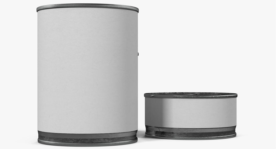 Tin Cans royalty-free 3d model - Preview no. 15