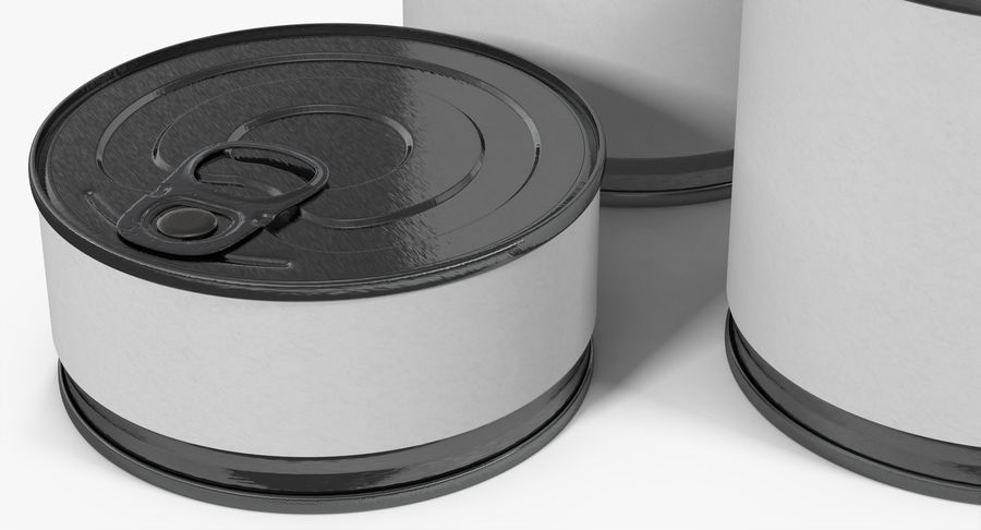 Tin Cans royalty-free 3d model - Preview no. 10