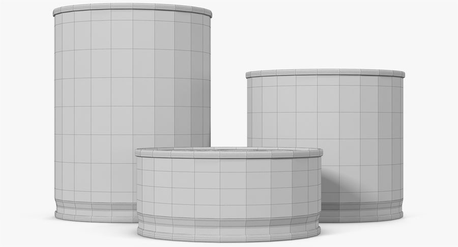 Tin Cans royalty-free 3d model - Preview no. 33