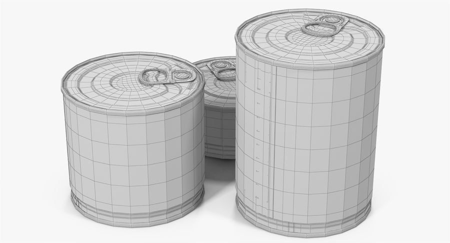 Tin Cans royalty-free 3d model - Preview no. 24