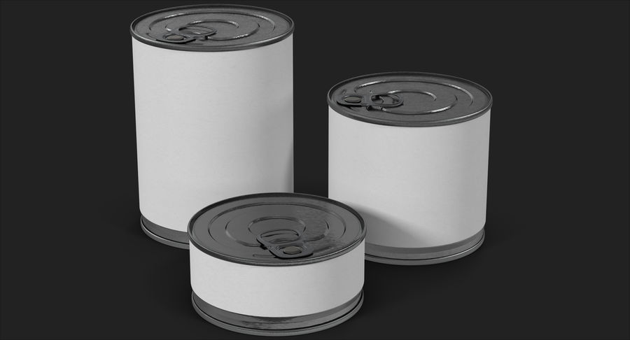 Tin Cans royalty-free 3d model - Preview no. 3