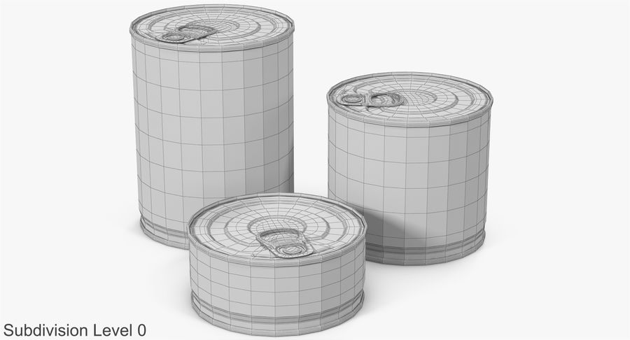 Tin Cans royalty-free 3d model - Preview no. 18