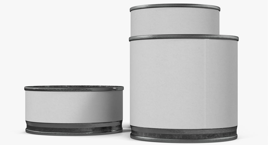 Tin Cans royalty-free 3d model - Preview no. 17