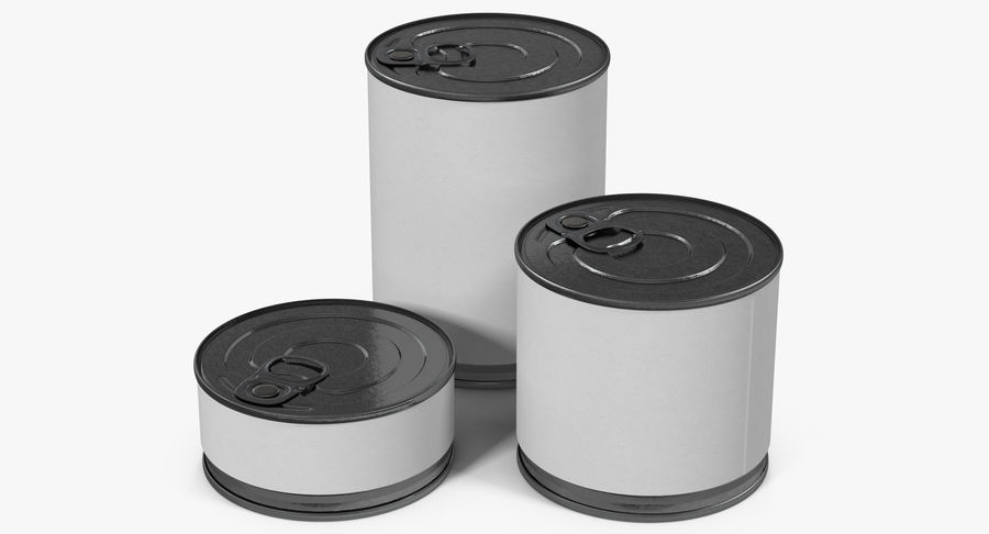 Tin Cans royalty-free 3d model - Preview no. 6