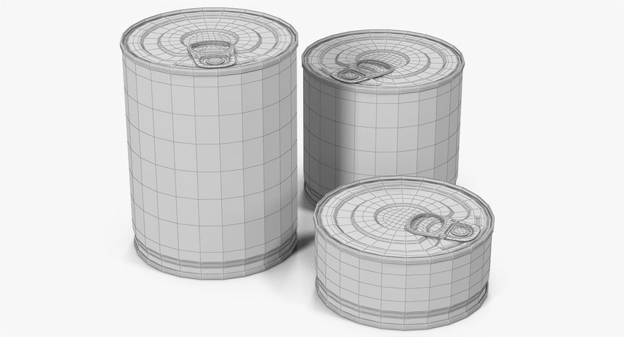 Tin Cans royalty-free 3d model - Preview no. 23
