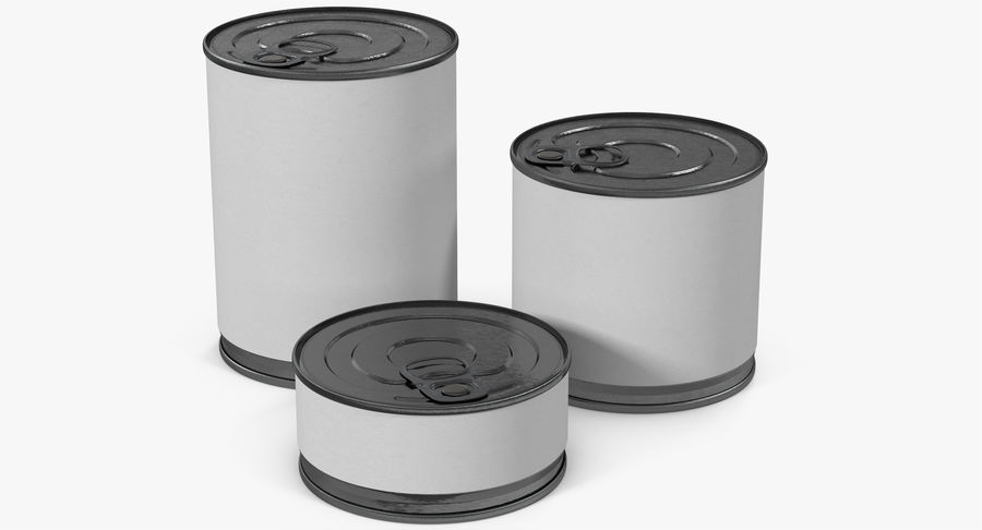 Tin Cans royalty-free 3d model - Preview no. 2
