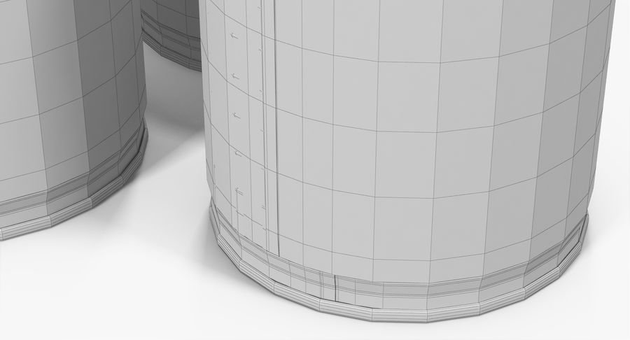 Tin Cans royalty-free 3d model - Preview no. 27