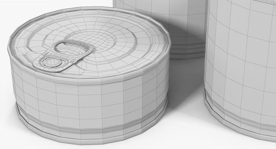 Tin Cans royalty-free 3d model - Preview no. 29