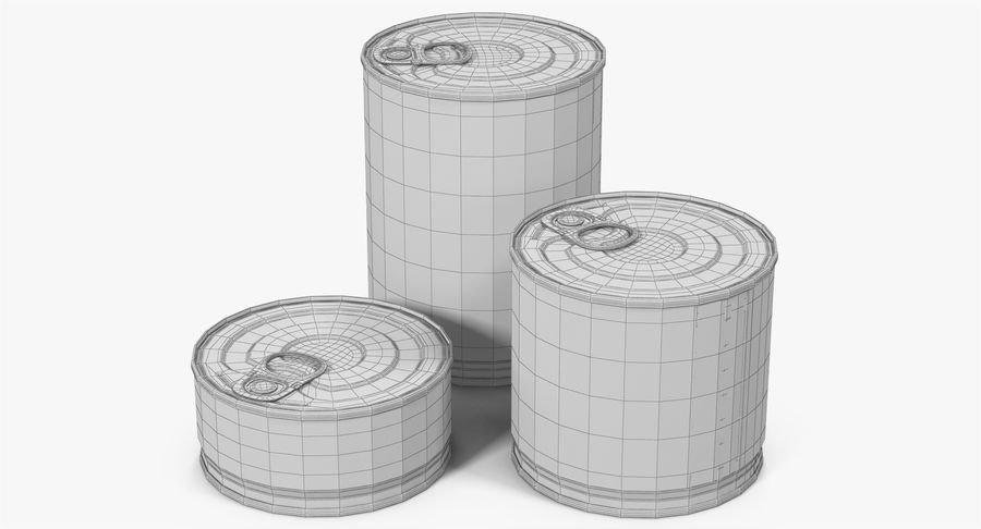 Tin Cans royalty-free 3d model - Preview no. 25
