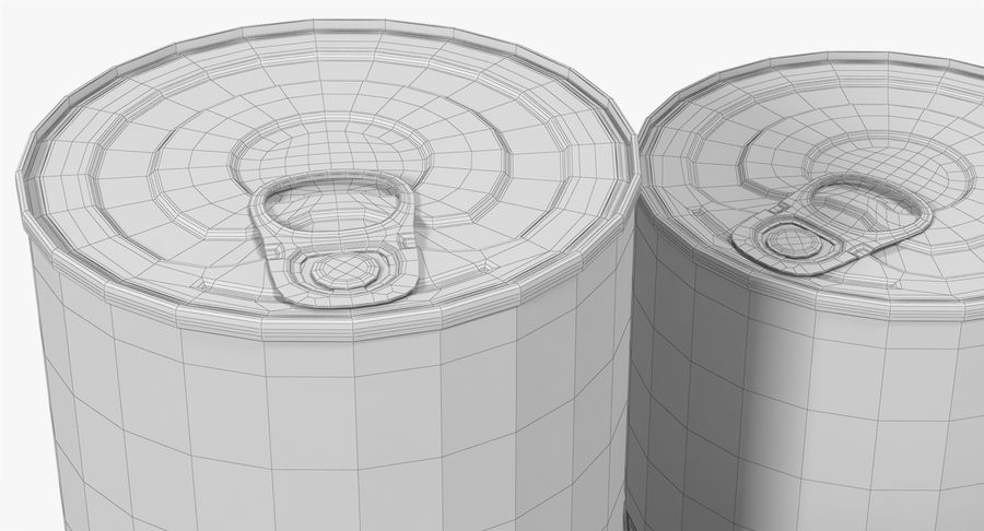 Tin Cans royalty-free 3d model - Preview no. 26