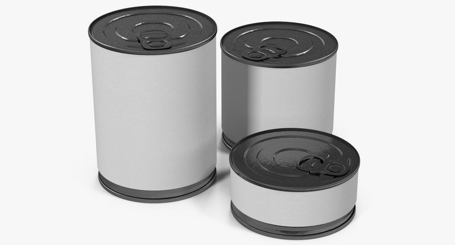 Tin Cans royalty-free 3d model - Preview no. 4
