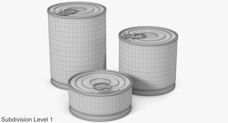 Tin Cans royalty-free 3d model - Preview no. 19