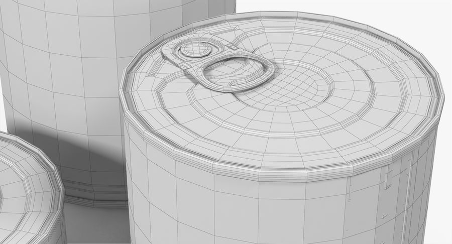 Tin Cans royalty-free 3d model - Preview no. 28
