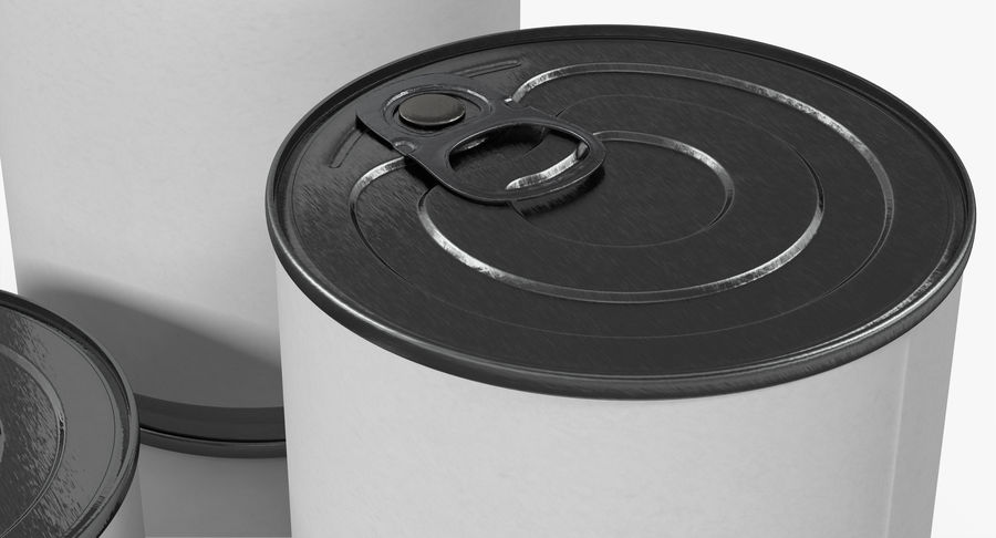 Tin Cans royalty-free 3d model - Preview no. 9