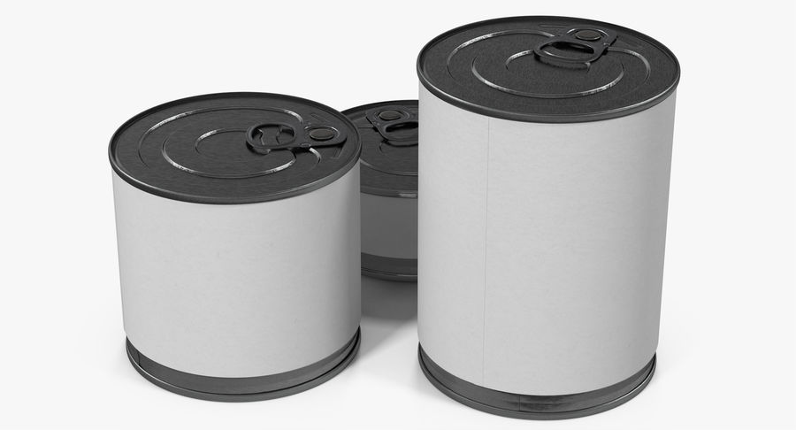 Tin Cans royalty-free 3d model - Preview no. 5