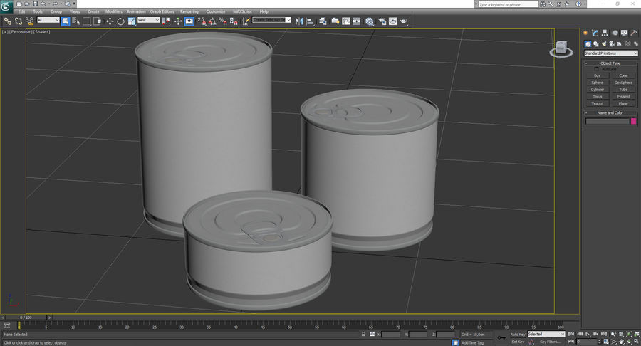 Tin Cans royalty-free 3d model - Preview no. 22