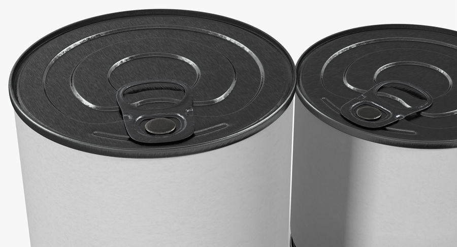 Tin Cans royalty-free 3d model - Preview no. 7