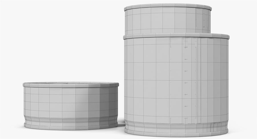 Tin Cans royalty-free 3d model - Preview no. 36