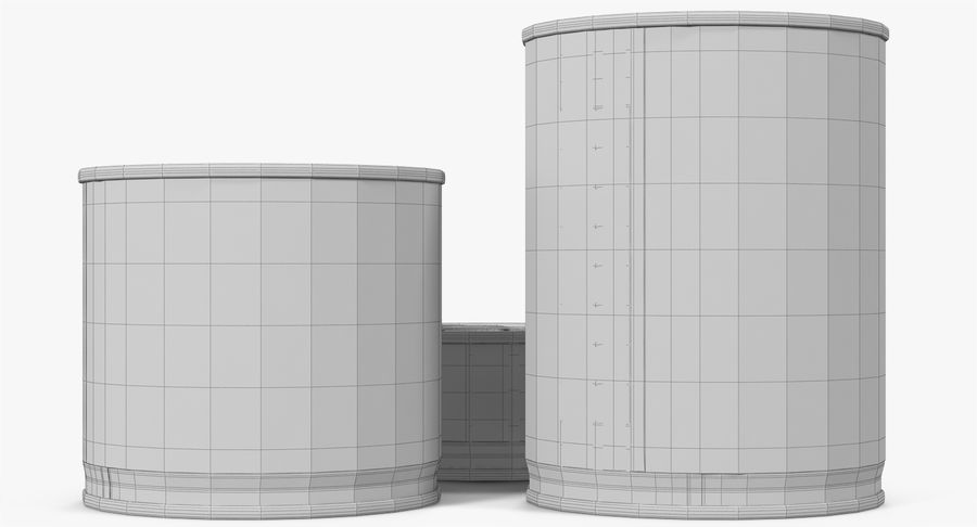 Tin Cans royalty-free 3d model - Preview no. 35