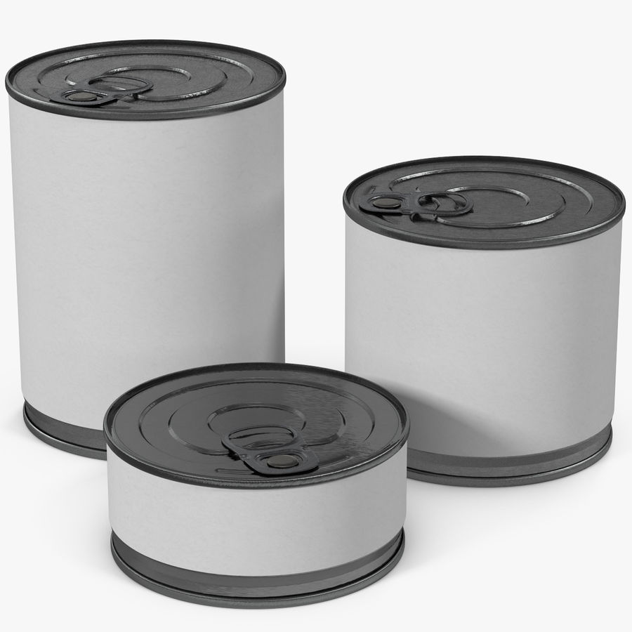 Tin Cans royalty-free 3d model - Preview no. 1