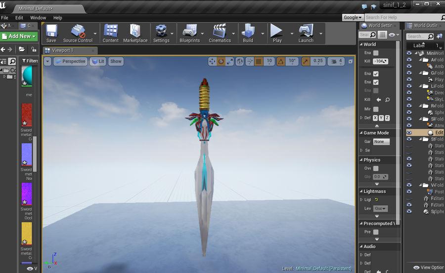 Fantasy Sword royalty-free 3d model - Preview no. 21