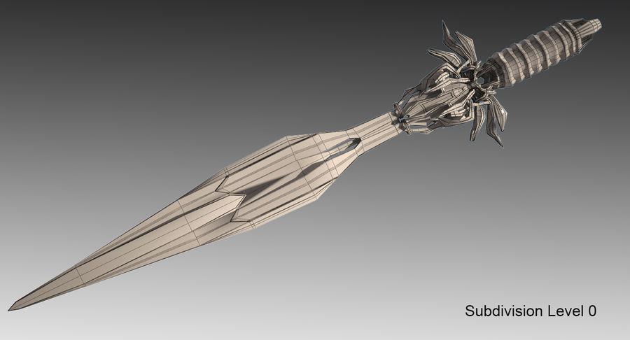 Fantasy Sword royalty-free 3d model - Preview no. 10